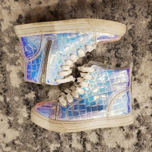 Justice For Girls Holographic High Top SneakersEUC